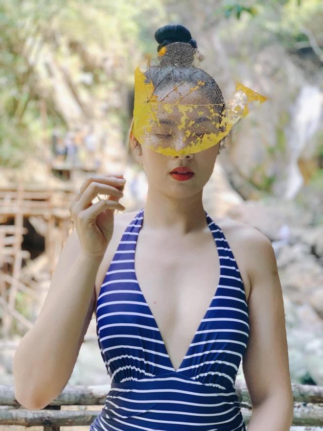 Hoa hau Ngoc Han lan hiem hoi dien bikini sau 9 nam dang quang hinh anh 3