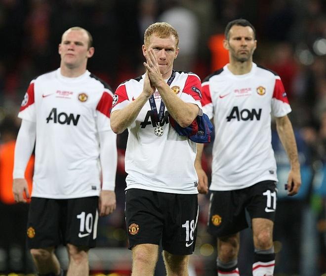 Paul Scholes,  Man United,  Champions League,  MU,  Real Madrid,  Barcelona anh 1