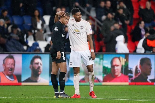 Marcus Rashford,  Kylian Mbappe,  Man United,  MU anh 1