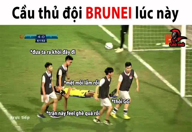 Anh che Bui Tien Dung 'khong co gi de bat' trong tran gap U23 Brunei hinh anh 6