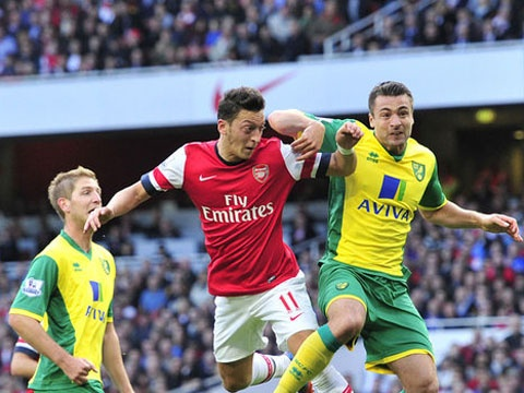 Oezil va Ramsey thi dau an tuong truoc Norwich City hinh anh