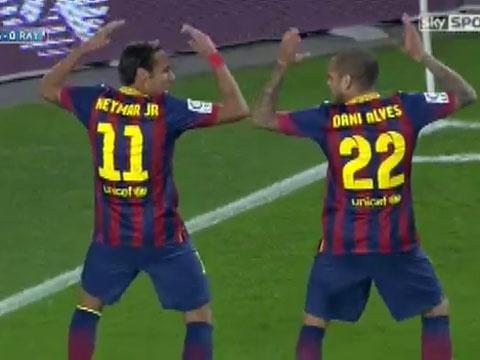 Neymar ghi ban tuyet dep, an mung sieu di hinh anh