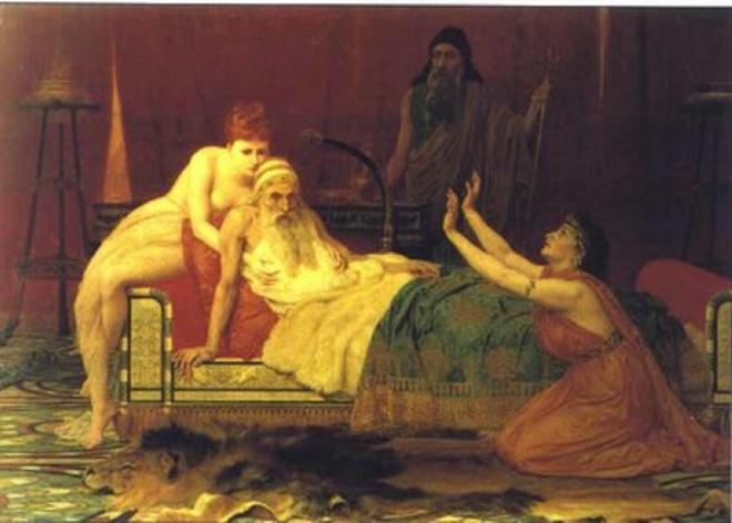 10 quan niem sai lam ve co the phu nu (ky 1) hinh anh 3 Vua David ngủ với trinh nữ để hồi xuân. Ảnh: Furtherandfaster