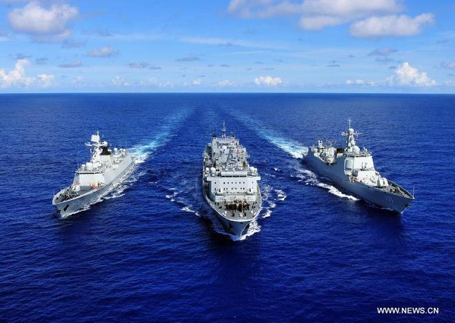 Lần đầu tiên Trung Quốc điều động tàu chiến tham gia tập trận Vành đai Thái Bình Dương