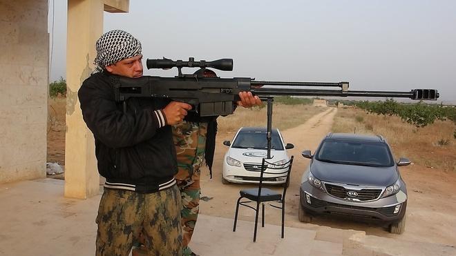 Sung ban tia hang nang cua phe doi lap Syria hinh anh