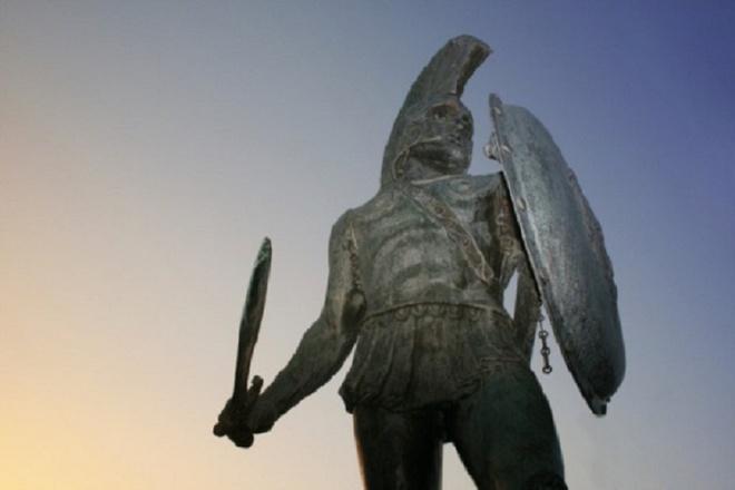 Chính quyền thành phố Sparta, Hy Lạp. buộc các thai phụ nhìn tượng anh hùng mỗi ngày để sinh con dũng cảm. Ảnh minh họa: Blogspot.com