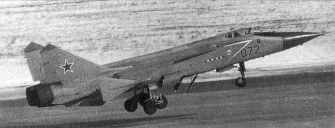 Biến thể MiG-31D trong một thử nghiệm cho nhiệm vụ chống vệ tinh.