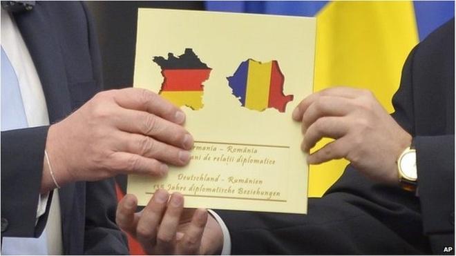 Romania be bang voi Duc vi in nham ban do hinh anh