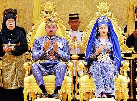 Nhung le cuoi xa hoa cua hoang gia Brunei hinh anh