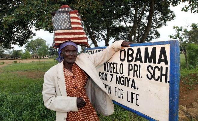Chau Phi huyen nao cho don Obama hinh anh