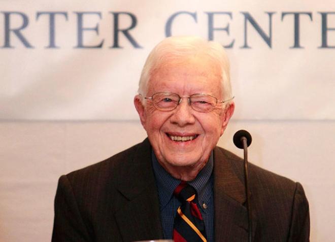 Cuu tong thong My Jimmy Carter bi ung thu hinh anh