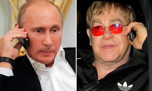 Tong thong Putin goi dien, hen gap Elton John hinh anh