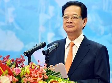 Thu tuong: 'Tranh chap tren bien Dong kho luong' hinh anh 1 Thủ tướng Nguyễn Tấn Dũng phát biểu chỉ đạo tại Đại hội Thi đua yêu nước ngành ngoại giao. Ảnh: VGP/Nhật Bắc