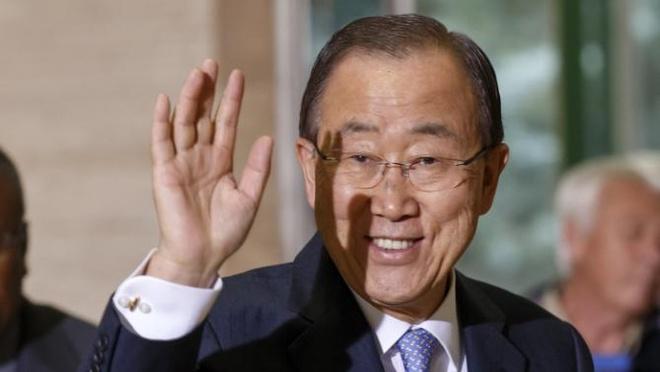 Qua trinh chon Tong thu ky moi cua Lien Hop Quoc sap bat dau hinh anh 2 Ông Ban Ki Moon, Tổng thư ký Liên Hợp Quốc, sẽ mãn nhiệm vào cuối năm 2016. Ảnh: AP