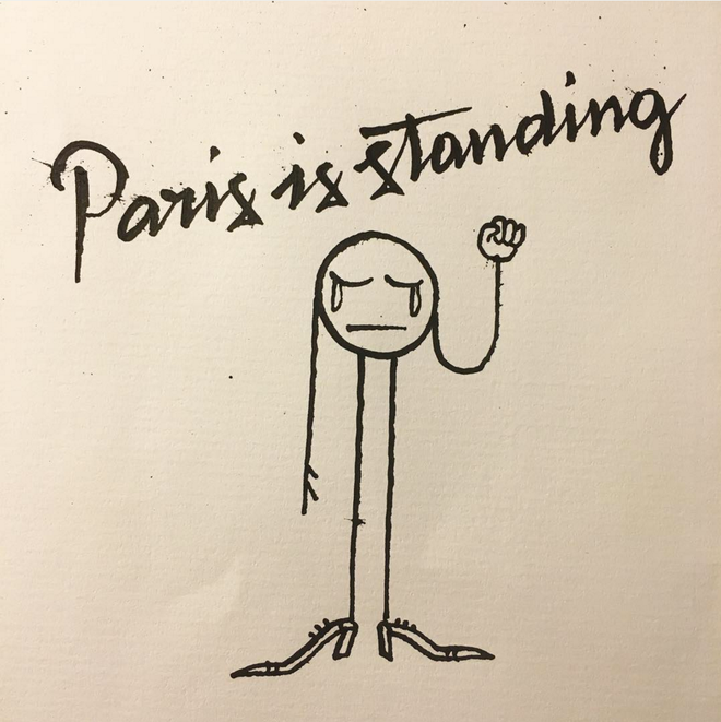Hoa si the gioi ve tranh ve khung bo Paris hinh anh 8