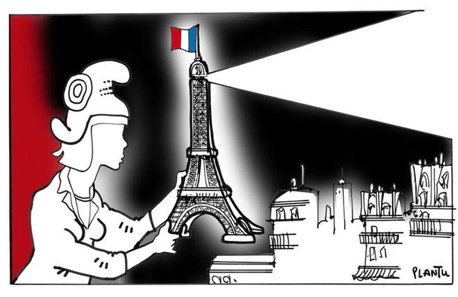 Hoa si the gioi ve tranh ve khung bo Paris hinh anh 9