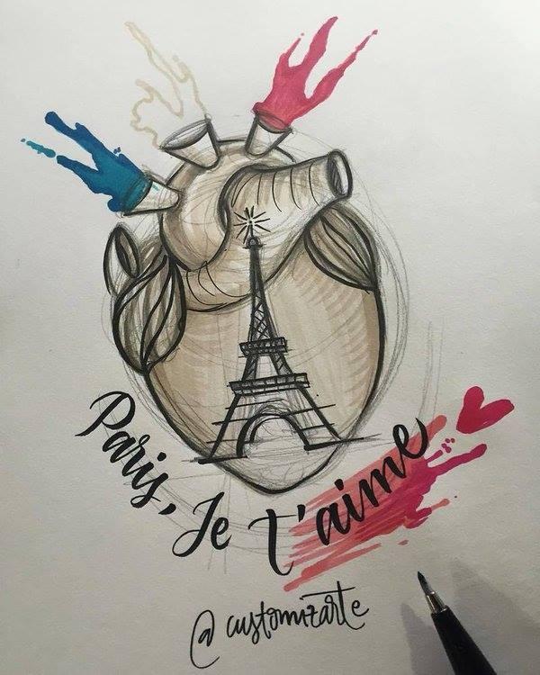 Hoa si the gioi ve tranh ve khung bo Paris hinh anh 1