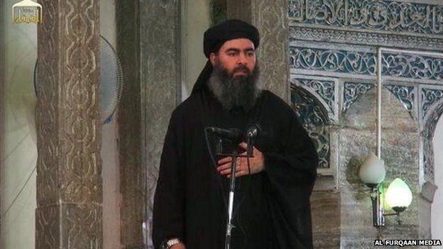 Phien quan Taliban dau tranh sinh ton voi IS hinh anh 2 thủ lĩnh Nhà nước Hồi giáo Abu Bakr al-Baghdadi. Ảnh: Al- Furqaan Media