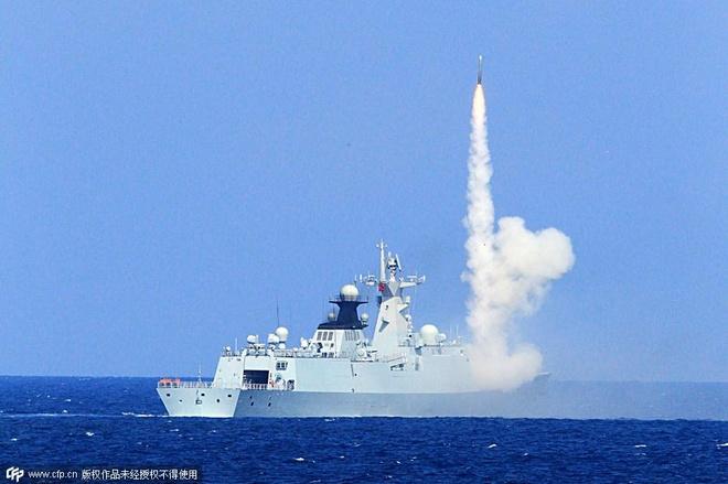 Trung Quoc tuyen bo tap tran tren Bien Dong hinh anh 1 Tàu Trung Quốc tập trận trên Biển Đông hồi tháng 7. Ảnh: CFP