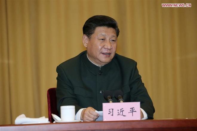 Tap Can Binh nhan manh vai tro cua bao quan doi Trung Quoc hinh anh 1 Chủ tịch Trung Quốc Tập Cận Bình phát biểu trong chuyến thăm PLA Daily hôm 25/12. Ảnh: Xinhua
