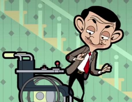 Mr Bean, xe lan va meo hinh anh