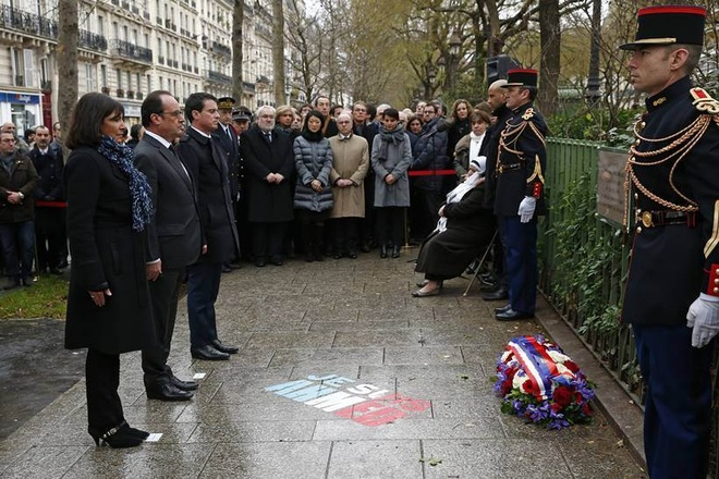 Paris tuong niem mot nam vu tan cong Charlie Hebdo hinh anh