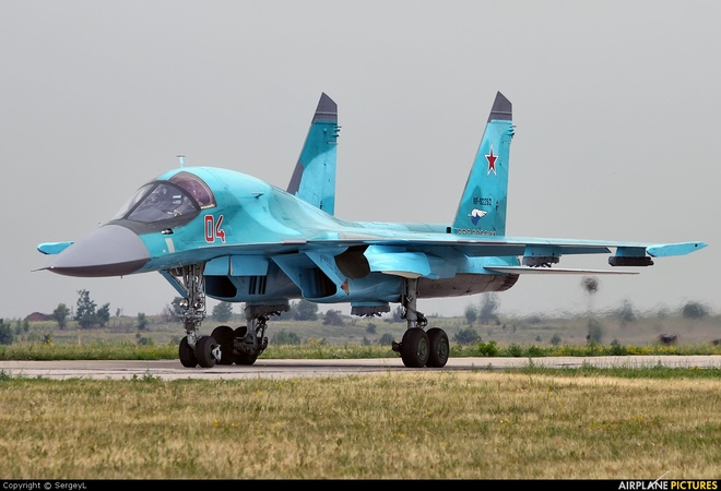 Chien dau co Su-34 cat canh roi Syria hinh anh