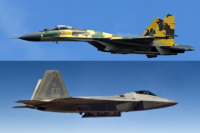Su-35 doi dau F-22, chien dau co nao uu the hon? hinh anh