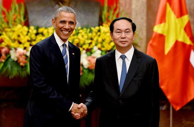 Chu tich nuoc tiep don trang trong Tong thong Obama hinh anh