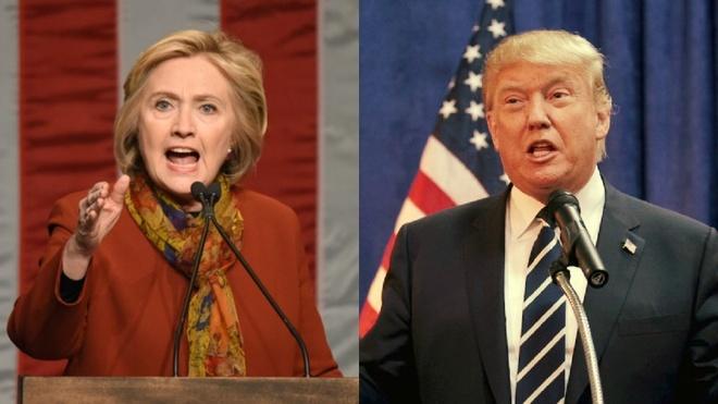 Clinton: Bau Trump lam tong thong la sai lam lich su hinh anh
