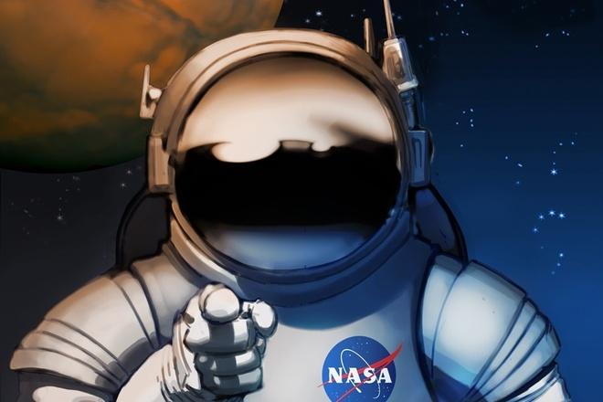 NASA tung poster tuyen nguoi len sao Hoa hinh anh