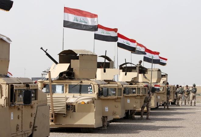 Quan doi Iraq tap ket chuan bi tan cong Mosul hinh anh