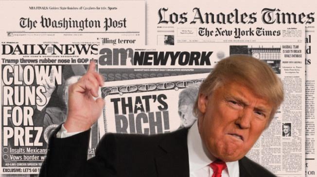Bi doi thu dan truoc, Trump to bau cu My gian lan hinh anh