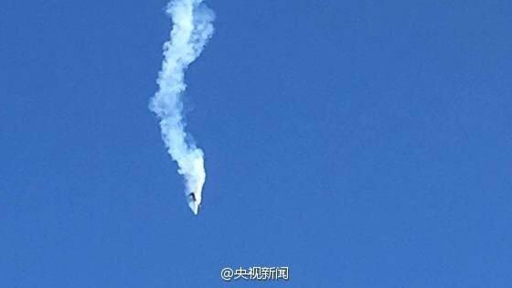 May bay roi trong trien lam hang khong Trung Quoc anh 1