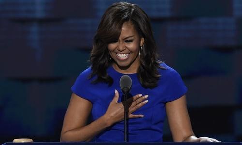 Michelle Obama ung ho ba Clinton anh 1