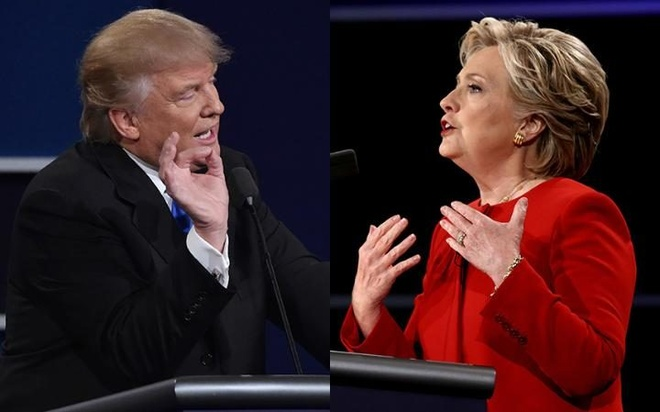 Nhung man tranh luan nay lua giua Clinton va Trump hinh anh