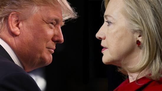 Clinton va Trump san sang cho cuoc tranh luan dau tien hinh anh