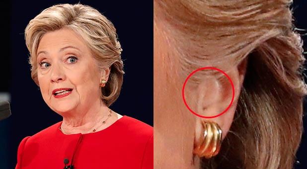 Thuyet am muu ba Clinton gian lan trong buoi tranh luan hinh anh 1