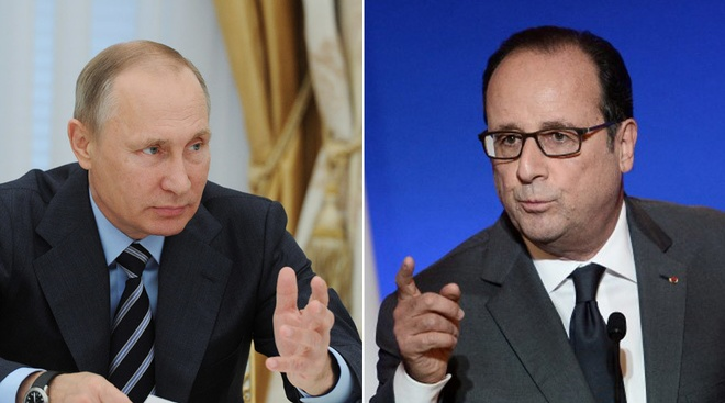 Ong Hollande nang loi chi trich Nga, ong Putin huy tham Phap hinh anh