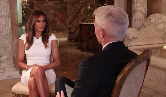 Vo Trump noi chong bi 'gai bay' trong video tuc tiu hinh anh 1