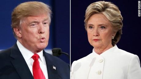 Clinton, Trump an mieng tra mieng trong tranh luan cuoi cung hinh anh