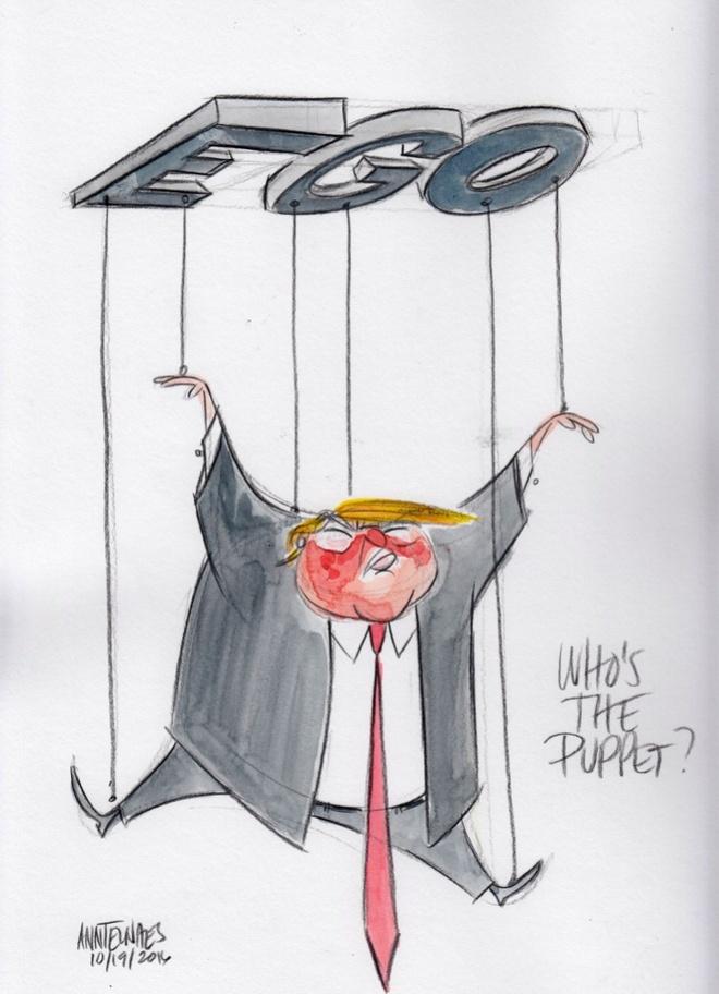 Trump tro thanh 'nguoi dan ba xau tinh' qua tranh biem hoa hinh anh 6