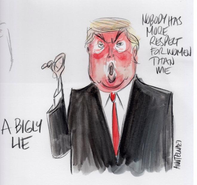 Trump tro thanh 'nguoi dan ba xau tinh' qua tranh biem hoa hinh anh 4