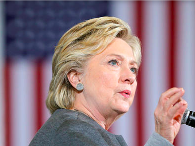 Ba Clinton vuot troi phieu bau cu som tai bang chien truong hinh anh