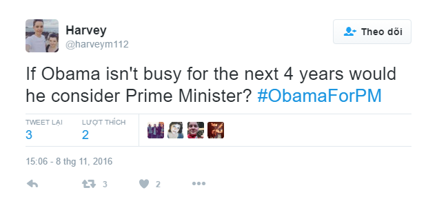 Dan Anh 'moi' Obama ve lam thu tuong tren Twitter hinh anh 2