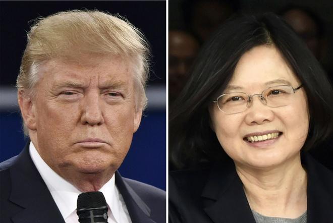 Trump dien dam cho nha lanh dao Dai Loan anh 1