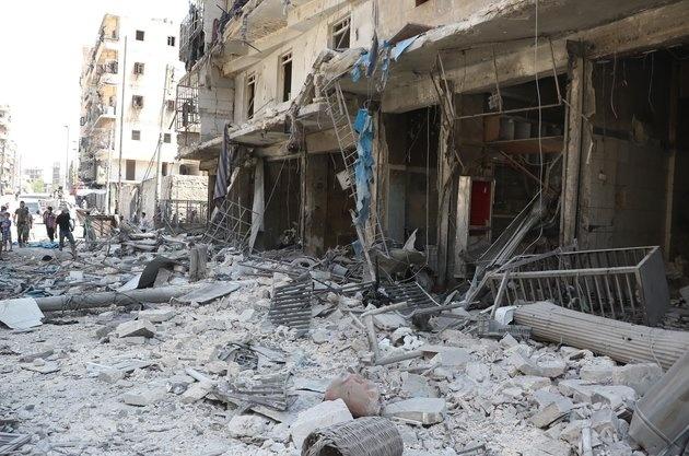 Nga dung Iran lam can cu de danh bom noi day Syria hinh anh 1