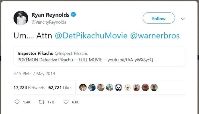 Phim 'Tham tu Pikachu' co ban Full HD tren YouTube du chua ra rap? hinh anh 1