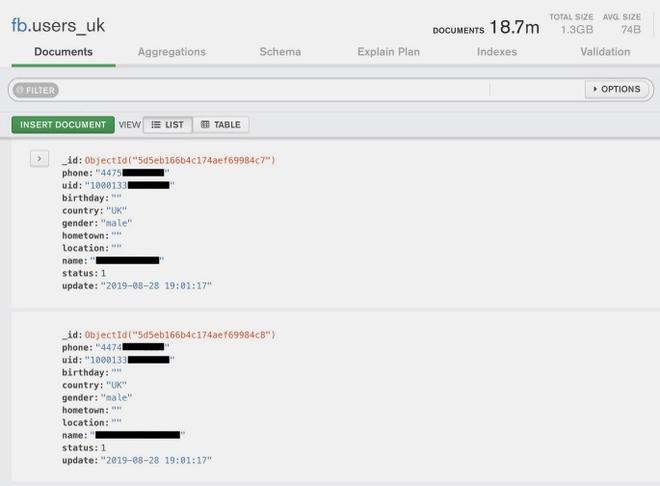 Nhiều hồ sơ cho thấy các thông tin cá nhân khác như giới tính, quốc gia và tên người dùng. Ảnh chụp màn hình.