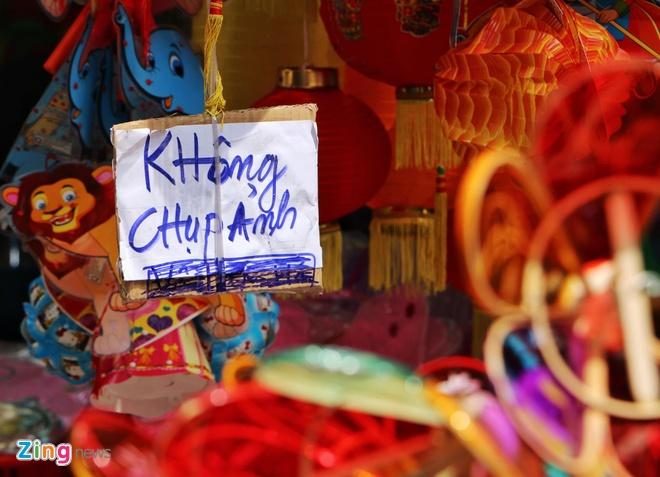 Pho den long Hang Ma dong loat treo bien 'Cam chup hinh' anh 1